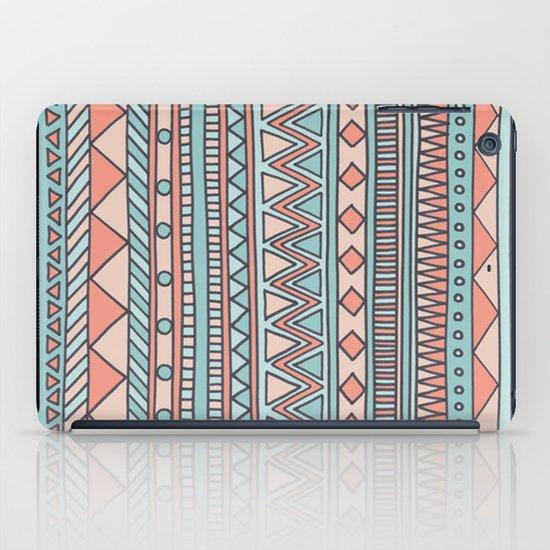 Tribal #4 (Coral/Aqua) iPad Case