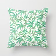 420 Leaves Throw Pillow