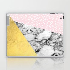Trini - abstract painting texture gold pastel pink marble trendy hipster minimal art design bklyn  Laptop & iPad Skin