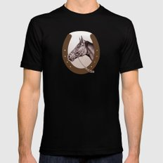 Sir Alfred - Racehorse Mens Fitted Tee SMALL Black
