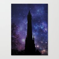 Water Tower-Victorian Canvas Print