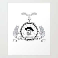 Black beard Art Print