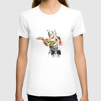 Boba Fett Print Womens Fitted Tee White SMALL