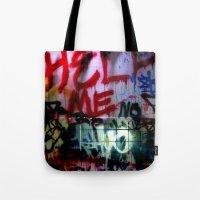 help me graffitti Tote Bag