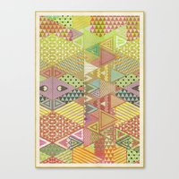 A FARCE / PATTERN SERIES… Canvas Print