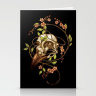 Stationery Cards featuring Bird Skull & Vine by Catherine Noel