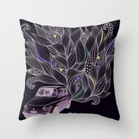 Toot Throw Pillow