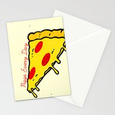 Pizza Every Day Stationery Cards