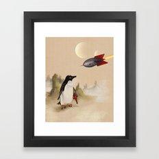 Pulp Penguin Framed Art Print