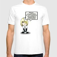 Chibi Glados Mens Fitted Tee White SMALL