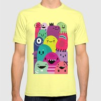 Pile Of Awesome Mens Fitted Tee Lemon SMALL