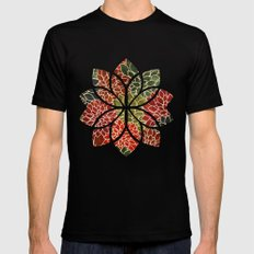 Floral Abstract 7 SMALL Mens Fitted Tee Black