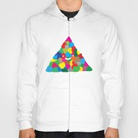 happy colour triangle Hoody