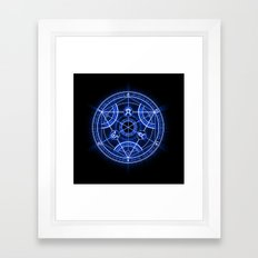 Human Transmutation Circle Framed Art Print