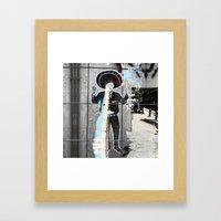 Summer space, smelting selves, simmer shimmers. [extra, 3] Framed Art Print