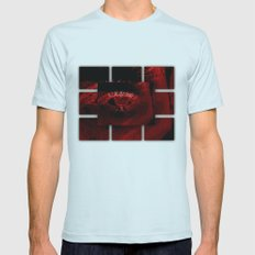 Neon Red Eye In Deep Oce… Mens Fitted Tee Light Blue SMALL
