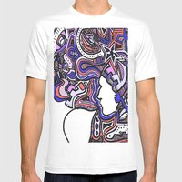 Salmon Techno Mens Fitted Tee White SMALL