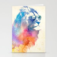 blue Stationery Cards featuring Sunny Leo   by Robert Farkas