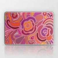 Rose fragments, pink, purple and orange Laptop & iPad Skin