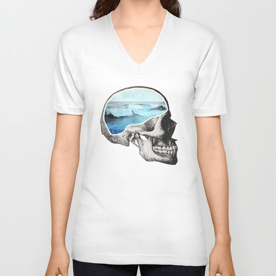 Brain Waves V-neck T-shirt