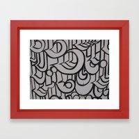 Linework 1 Framed Art Print