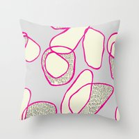 Blobs 1 Throw Pillow
