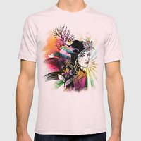 Colorful Nature Mens Fitted Tee Light Pink SMALL