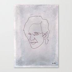 One line doctor Who (Matt Smith) Canvas Print