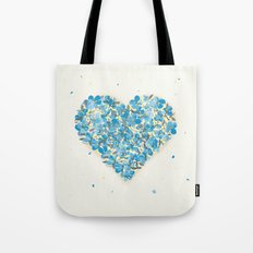 Forget-me-nots Heart Tote Bag