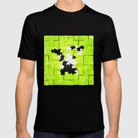 NATURE ISLAND TEXTURE Mens Fitted Tee Black SMALL