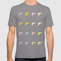 Guns Mens Fitted Tee Tri-Grey SMALL