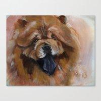 Chow Dog Portrait Canvas Print