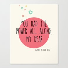 Glynda the Good Witch Typography quote Canvas Print