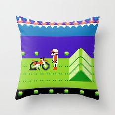 Punctured Bike Throw Pillow