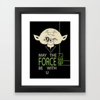 Starwars Yoda - May The Force Be With U Framed Art Print