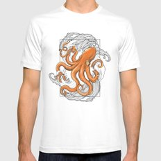 Hexapus Ink 3 White Mens Fitted Tee SMALL