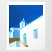 Santorini House Art Print