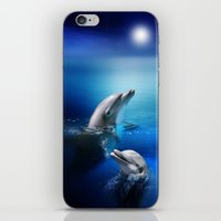 Dolphin Delight iPhone & iPod Skin
