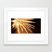 Fire Burst Framed Art Print