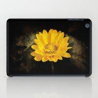 Beautiful Sunflower with Dark Brown Background iPad Case