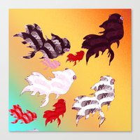 Dancing Fishes II Canvas Print