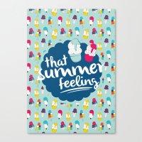 That summer feeling - Blue Canvas Print