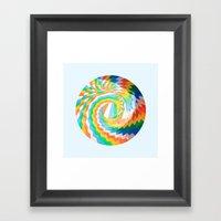 Swirl Of Colour Framed Art Print