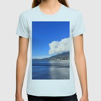 Blue vs. White Womens Fitted Tee Light Blue SMALL