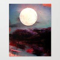 Tonight, I Am Dreaming That We Can Sleep Under The Same Moon. Canvas Print