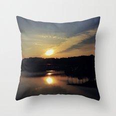 Sunset, Lake lanier Throw Pillow