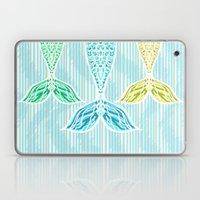 Mermaids and Stripes Laptop & iPad Skin