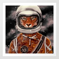 Tiger Astronaut Art Print