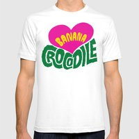 Banana Love And The Croc… Mens Fitted Tee White SMALL
