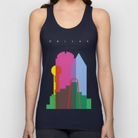 Shapes of Dallas. Accurate to scale. Unisex Tank Top